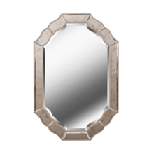 Deidre - Mirror with Antique Mirror and Champagne Finish Frame