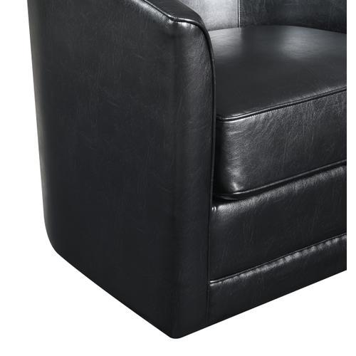 Milo Swivel Accent Chair, Classic Black U5029c-04-26a