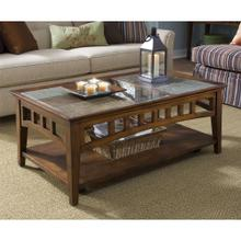 See Details - Andorra - Coffee Table - Eden Burnished Cherry Finish