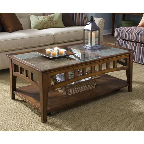 Gallery - Andorra - Coffee Table - Eden Burnished Cherry Finish