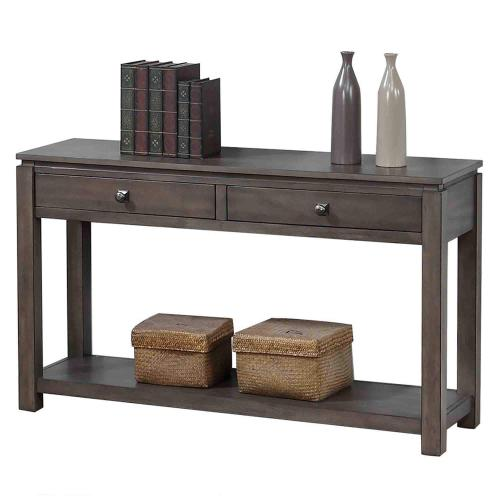 Product Image - Sofa Console w/Drawers and Shelf - Shades of Gray