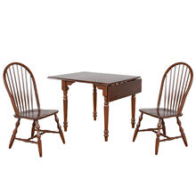 See Details - Drop Leaf Dining Set w/Spindleback Chairs - Chestnut (3 Piece)