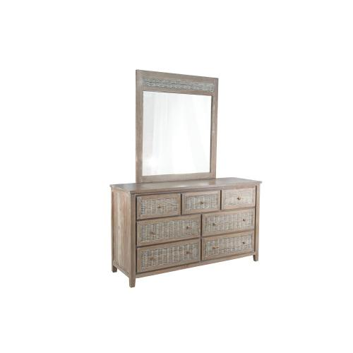 Dresser with 7 drawers, Available in Vintage Smoke Finish Only.