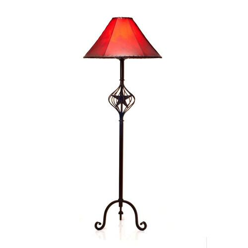 Iron Floor Lamp W/Caged Star No Shade DISCONTINUED