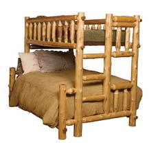 Traditional Bunk Bed - Queen/Single - Vintage Cedar - Ladder Right