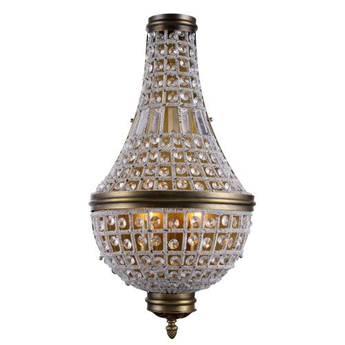 Stella 3 light French Gold Wall Sconce Clear Royal Cut Crystal