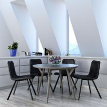 Mira/Buren 5pc Dining Set, Grey/Grey