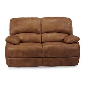 Dylan Leather Reclining Loveseat with Chaise Footrests