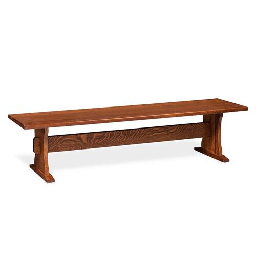 Franklin II Dining Trestle Bench, Wood Seat