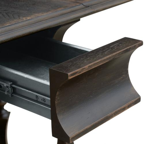 Shaped Leg Drop Leaf Table in Gray
