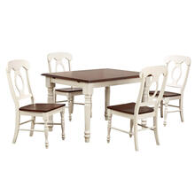 See Details - Butterfly Leaf Dining Set - Napoleon Chairs (5 Piece)