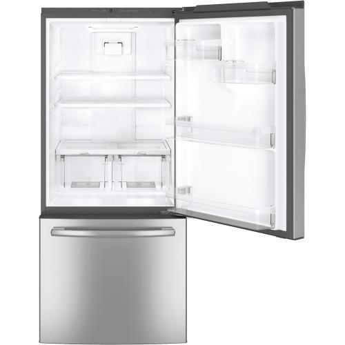 GE 20.9 cu.ft. Bottom Freezer Refrigerator Stainless Steel GDE21DSKSS