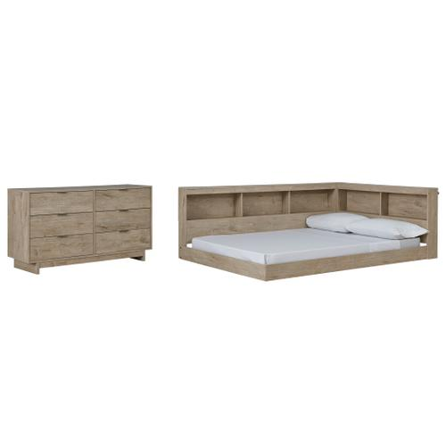 Full Bookcase Storage Bed With Dresser