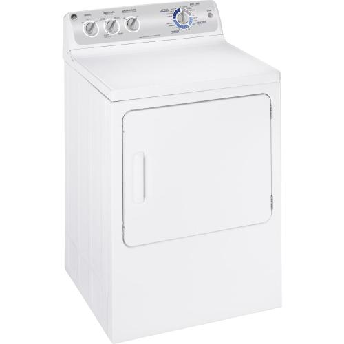 GE® 6.0 cu. ft. capacity DuraDrum™ gas dryer with Sensor Dry™