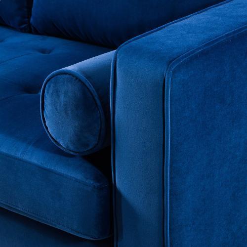 Tov Furniture - Como Navy Velvet Sectional LAF