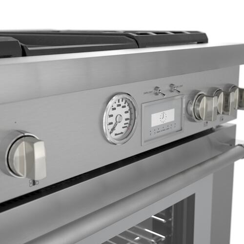 Product Image - Dual Fuel Professional Range 36'' Pro Grand® Commercial Depth Stainless Steel PRD364WDGU