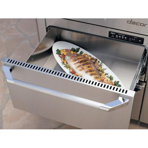 """24"""" Indoor/Outdoor Warming Drawer, Silver Stainless Steel"""