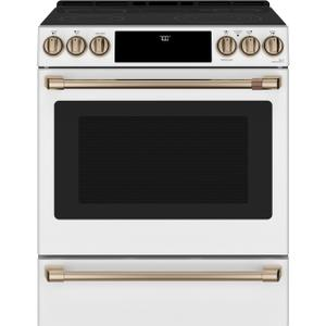 "Cafe Appliances30"" Smart Slide-In, Front-Control, Radiant and Convection Range"