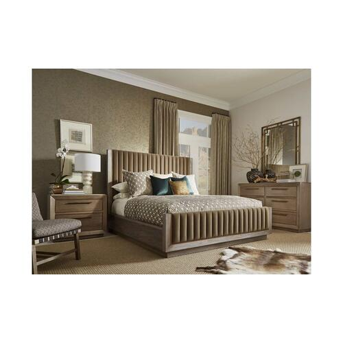 WoodWright Champagne Mulholland Upholstered California King Bed