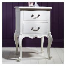 GA Chic Bedside Table Vanilla White