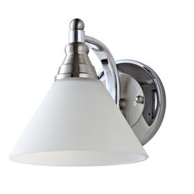 Valery Wall Sconce - Nickel / Clear