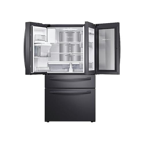 (OPEN BOX) 28 cu. ft. Food Showcase 4-Door French Door Refrigerator in Black Stainless Steel