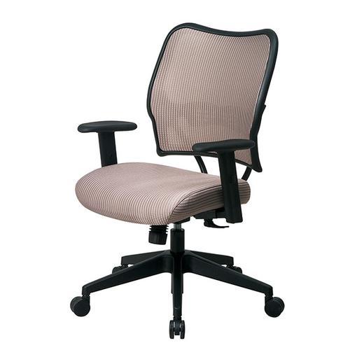 Deluxe Chair With Latte Veraflex Back and Veraflex Fabric Seat