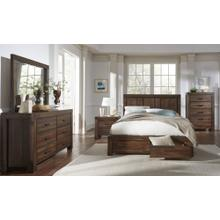 Meadow Queen Storage Bed (Brick Brown)