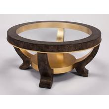 """View Product - Coffee Table with Glass Dia.42x21"""""""