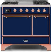 40 Inch Blue Dual Fuel Natural Gas Freestanding Range