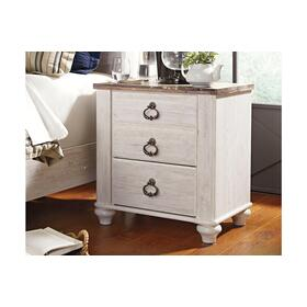 Willowton Two Drawer Night Stand Whitewash