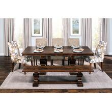 "Montgomery Double Pedestal Table, Montgomery Double Pedestal Table, 42""x60"", 1-18"" Stationary Butterlfy Leaf on Each End"