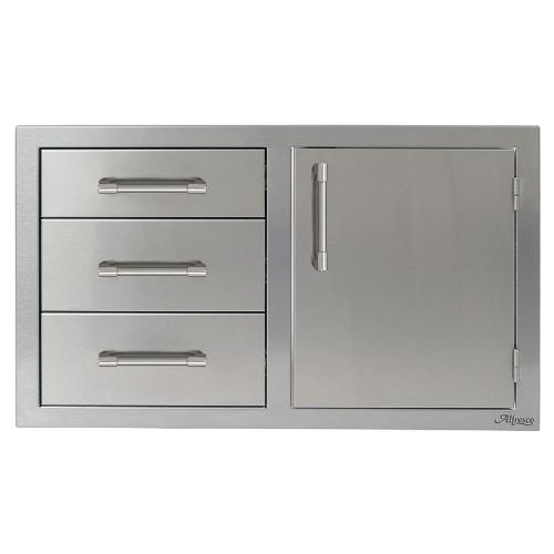 """Alfresco - 32"""" Three Drawers with Door On Right"""