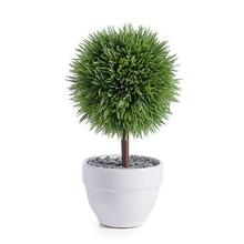 """View Product - Jardin 10"""" Potted Faux Topiary - Grass Ball"""