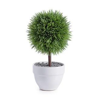 "Jardin 10"" Potted Faux Topiary - Grass Ball"
