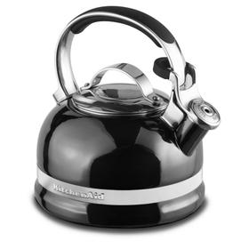 2.0-Quart Kettle with Full Stainless Steel Handle and Trim Band - Pearl Metallic