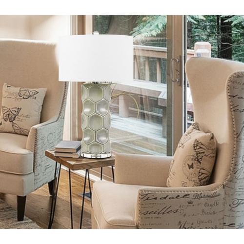 150W 3 Way Melfi Ceramic Table Lamp