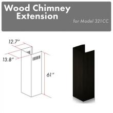 """See Details - ZLINE 61"""" Wooden Chimney Extension for Ceilings up to 12.5 ft. (321CC-E)"""
