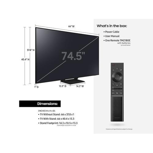 """Samsung - 75"""" Q7DA QLED 4K Smart TV (2021)"""