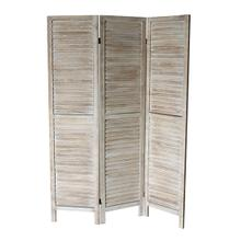 7038 NATURAL Rustic Shutter 3-Panel Room Divider