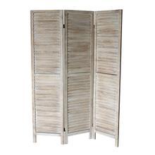 See Details - 7038 NATURAL Rustic Shutter 3-Panel Room Divider