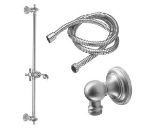 Slide Bar Handshower Kit - Cross Handle With Concave Base Product Image