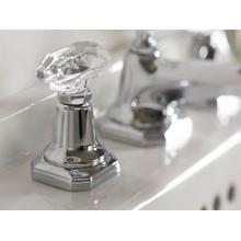 Sink Faucet, Clear Crystal Handles - Nickel Silver