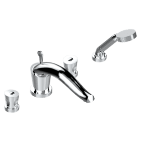 "Roman tub set with diverter spout and handshower, 3/4"" valves"