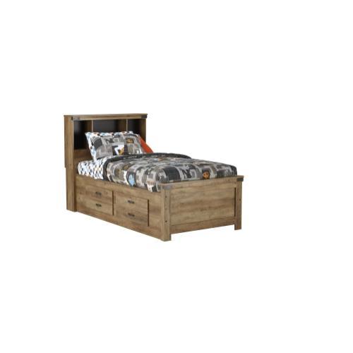 Full Bed w/Bookcase & Storage