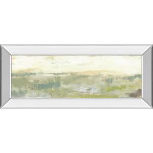 """Greenery Horizon Line II"" By Jennifer Goldberger Mirror Framed Print Wall Art"