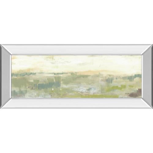 """Greenery Horizon Line II"" By Jennifer Goldberger Mirror Framed Print Wall Art"
