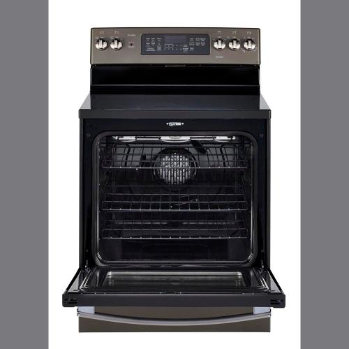"GE Profile 30"" Free Standing Electric Self-Cleaning Convection Range Slate PCB940EKES"