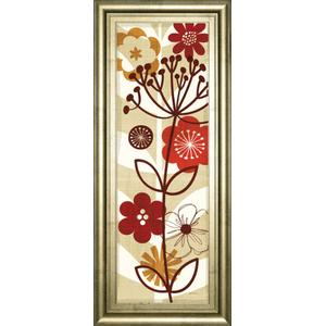 """""""Floral Pop Panel Il"""" By Mo Mullan Framed Print Wall Art"""