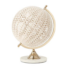Roanoke Woven Globe with Marble Base
